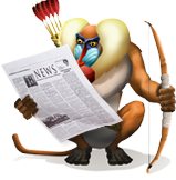 Baboon-Newspaper